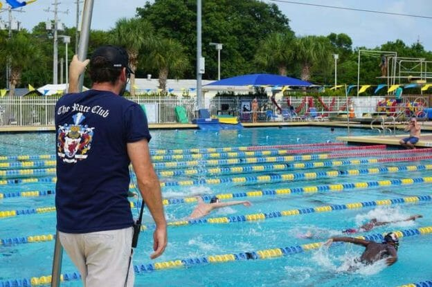 Olympic swimming training