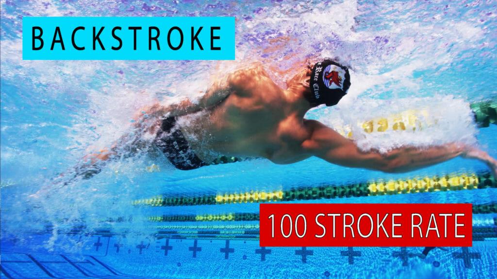 backstroke stroke rate 100